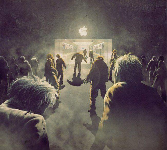 Зомби у входа в корпорацию Apple — демотиватор